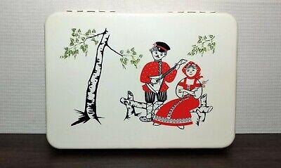 Vintage Plastic Casket Box For Yarns Cultures & Ethnicities Soviet USSR UK