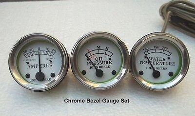 Tractor Oil Pressure Ammeter Temperature Gauge Set Replacement Fits John Deere