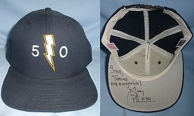 Gary Plummer Signed Original Personalized Chargers Snapback Football Hat Auto'd
