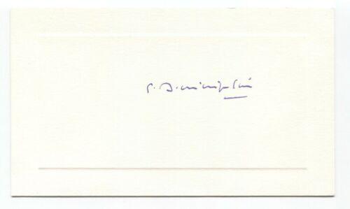 Dominique Pire Signed Card Autographed Signature Nobel Peace Prize Winner