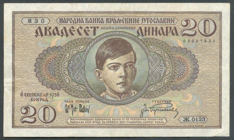 +Yugoslavia, 1936, 20 Dinara