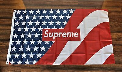Supreme American Flag Banner 3' x 5' Red White and Blue USA Shipper America New ](Red White And Blue Flag)