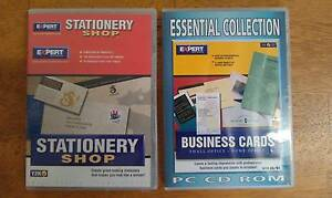 2 CD-Rom Software Business Cards Stationery Shop New Small Office Allawah Kogarah Area Preview