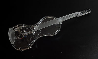 EQUESTER acrylic electric semi acoustic violin,HANDMADE, QP PICKUP+CASE