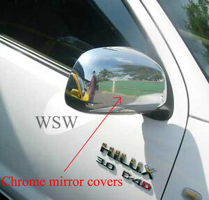 WING MIRROR CHROME COVER TRIM for TOYOTA HILUX MK6 SR5 SR WORKMATE UTE 05 06 07