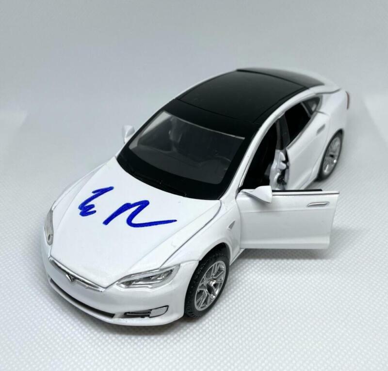 ELON MUSK SIGNED AUTOGRAPH 1:32 DIECAST TESLA MODEL S WHITE CAR - RARE JSA ACOA