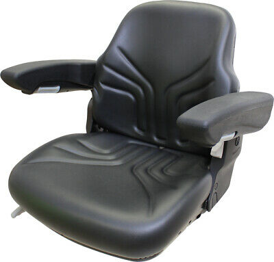 Amss11025 Seat Assembly Black Vinyl For Grammer Suspension - See Description