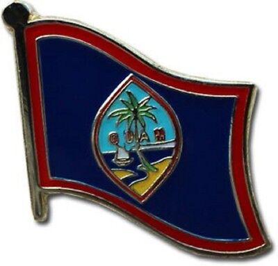 Wholesale Pack of 50 Guam Country Flag Bike Hat Cap lapel Pin
