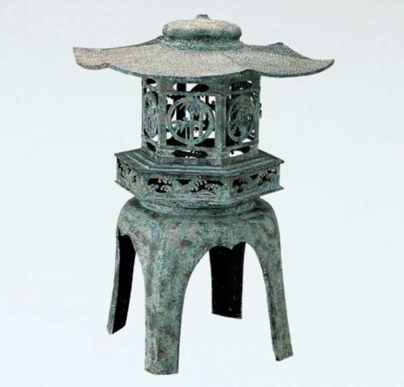Toro Japanese Bronze Lantern Takaoka Craft Yukimi hexagonal 54cm 5901 Japan