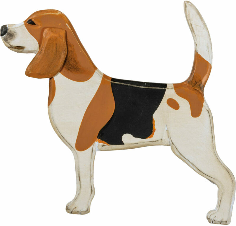 Beagle Solid Wood Wall Hanging Figure
