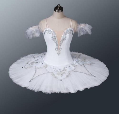 Professional White Silver Bayadere Nikiya Snow Queen Shades Ballet Tutu Costume
