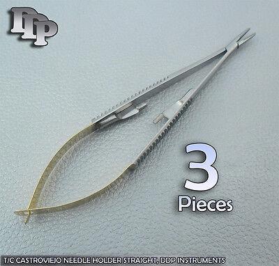 3 Tc Castroviejo Needle Holder 5.579 Straight W Tungsten Carbide Inserts