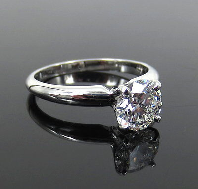 GIA Certified 1.01ct Ideal Cut F-VVS1 Diamond & 18K White Gold Solitaire Ring 4