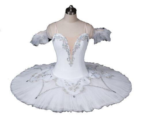 Professional WHITE Ballet Tutu Pancake Platter. Costume Made - FREE SHIPPING