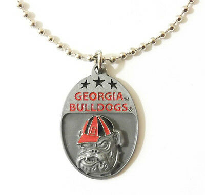 GEORGIA BULLDOGS LARGE PENDANT NECKLACE 24217 new college sports jewelry