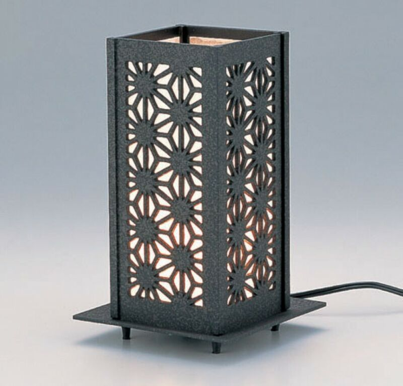 Electric Andon Japanese iron Lamp Lantern Asanoha Tkaoka craft 17208 Japan
