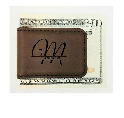 Personalized Engraved Money Clip Groomsman Best Man Gifts Magnetic