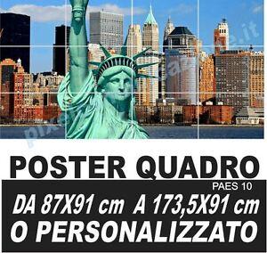 Quadro moderno poster arredo casa new york city statua for Poster arredo casa