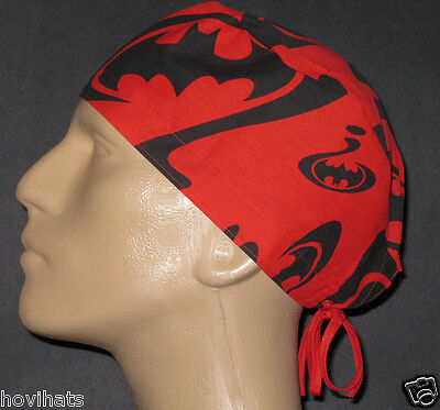Batman- Riddler Question Marks Scrub Hat/ Extremely Rare & Free Custom Sizing