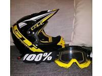Gt mountain bike helmet & 100% goggles