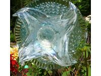 Large spectacular glass flowers, individual, unique and had made.