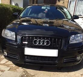 AUDI A3 2.0TDI BLACK MANUAL 3DR - S Line Interior *QUICK SALE NEEDED*
