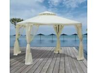 3 x 3m Metal Gazebo Garden Outdoor 2-Tier Roof Marquee Party Tent