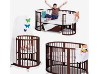 Baby cot by Stokke, amazing condition, only 6 months old. Transformer,Super deal