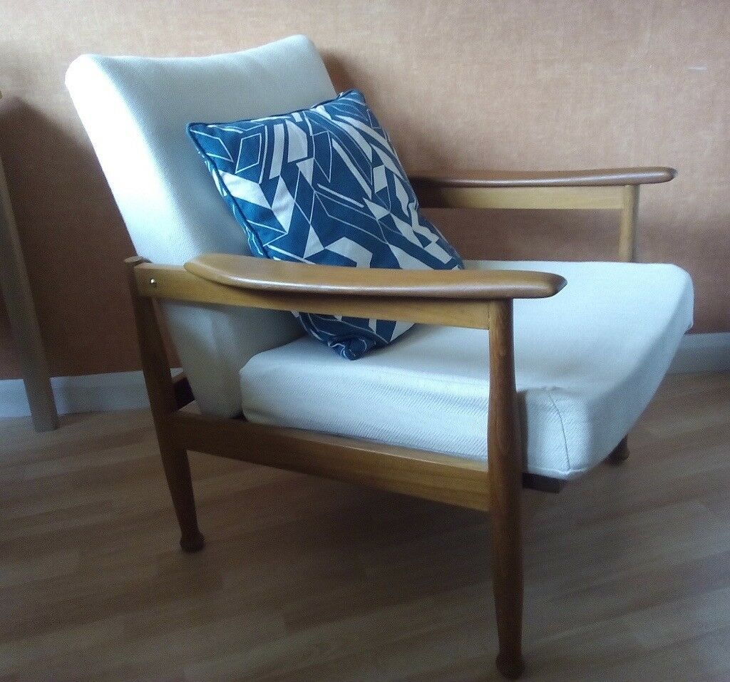 Guy Rogers Teak Manhattan Reclining chair Vintage Mid Century Danish ...