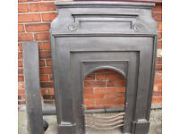 VICTORIAN/EDWARDIAN CAST IRON FIREPLACE, REDUCED(TO PRICE I BOUGHT IT FOR) FOR QUICK SALE