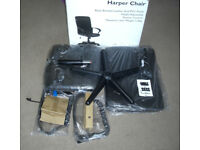 Harper Black Computer Study Office Chair New Boxed