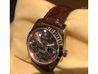 Rolex Skydweller Fully Automatic Chocolate Brown Leather Strap