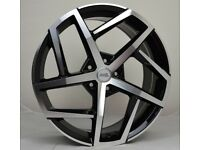 """18"""" AMS Dallas Style wheels and tyres suitable for a Golf, Jetta, Caddy ETC"""