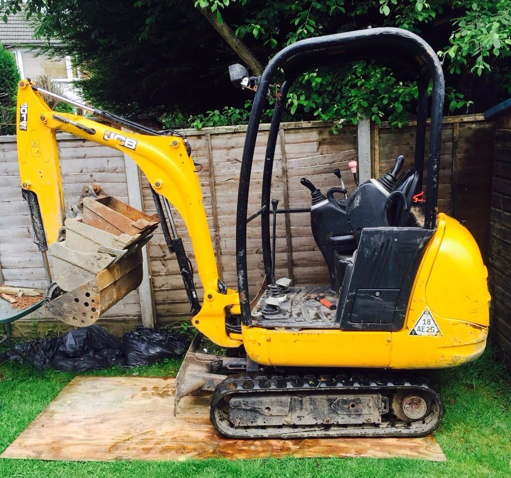 Mini Digger & Operator for hire providing all aspects of Excavation services - West Midlands area