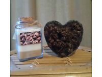 Handmade, Caramel Latte Scented Candle & soap set, Vegan friendly, by Heaven Senses