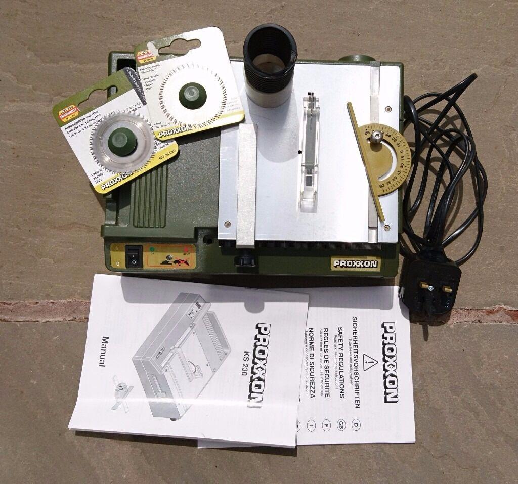 Proxxon bench circular hobby saw KS 230, 2 blades, vacuum ...