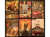 6 Assorted PC Games (used)