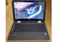 Like New HP 13-a000na x360 Core i3-4030U 4GB 1TB 13.3 inch Windows 8.1 Touchscreen Laptop Tablet