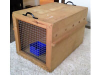Aeroplane Kennel for small cat - wooden (Airline approved)
