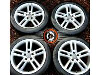 """18"""" Genuine Audi S Line twin spoke alloys excellent cond matching tyres."""