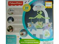 Fisher price 3in1 projection mobile for crib/cot