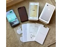 iPhone 7 128gb, Silver, Unlocked, Perfect Condition