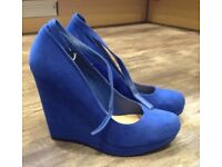 New Look Blue Wedges
