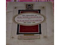 An album to contain Player's Coronation series of cigarette cards 1937