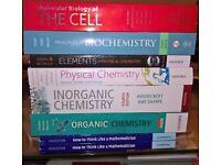 Chemistry, Biochemistry and Maths Under Graduate Textbooks