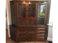 Solid Oak 3 Piece Cabinets Furniture Storage Display