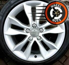 """17"""" Genuine Audi A3 alloys Caddy Golf etc good cond excellent tyres."""