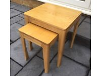 Solid Oak Nest Of Tables, Ex Display.