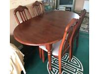 Wooden Dinning Table with 6 Chair