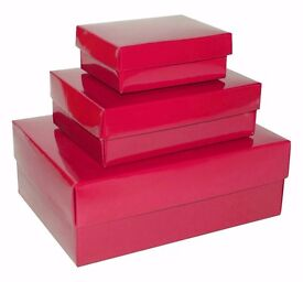 Plain Small Medium Large Gift Boxes with Lids